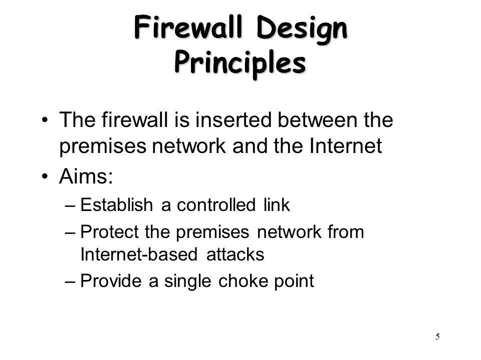 firewall design principle The chromium projects search this  in light of our first principle,  we are working on multiple fronts to design a system that allows chromium os.