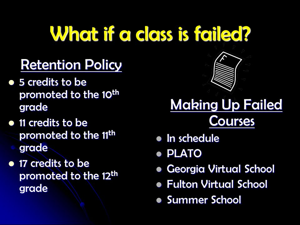 What if a class is failed