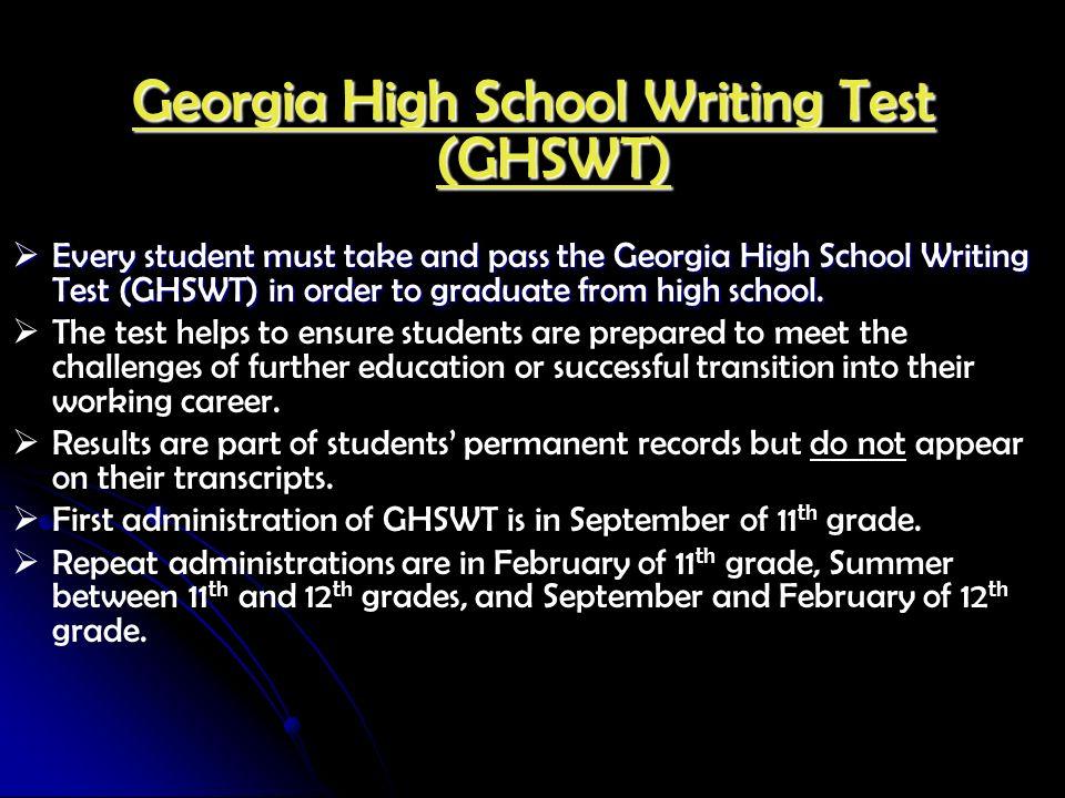 Georgia High School Writing Test (GHSWT)