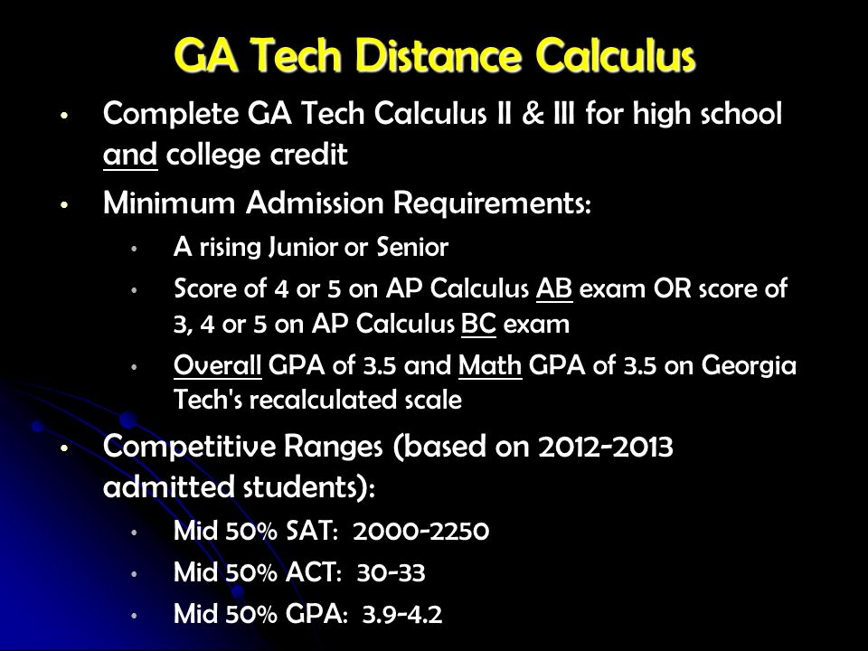 GA Tech Distance Calculus