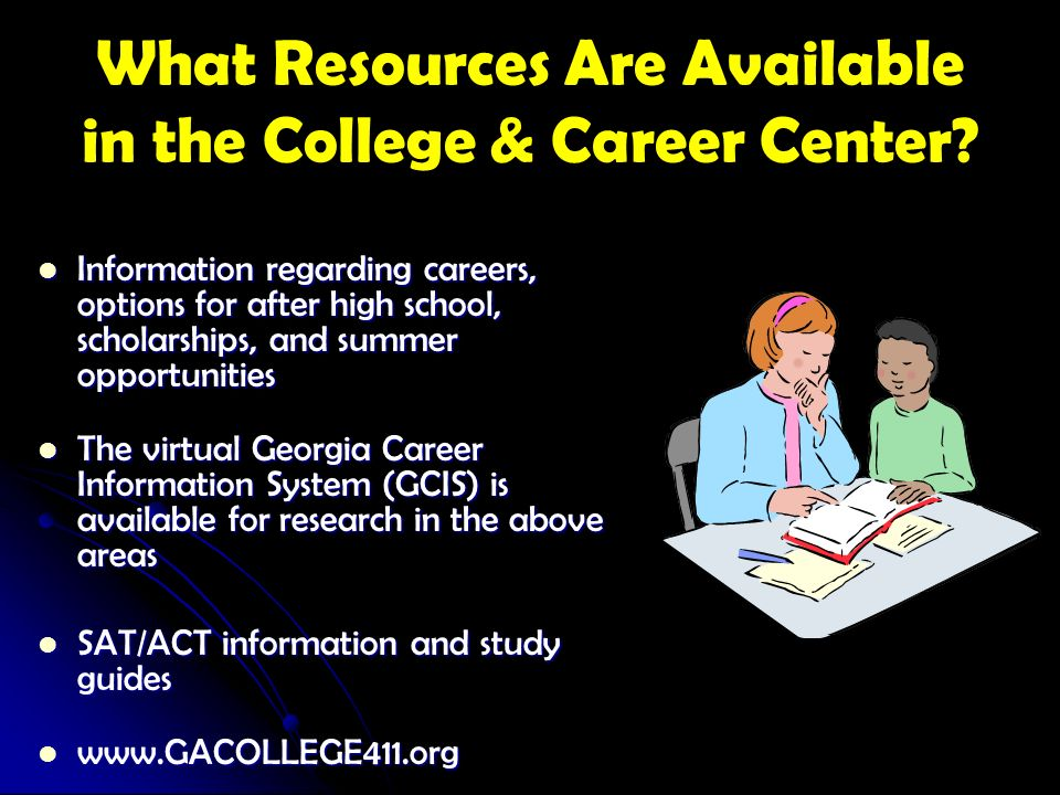 What Resources Are Available in the College & Career Center