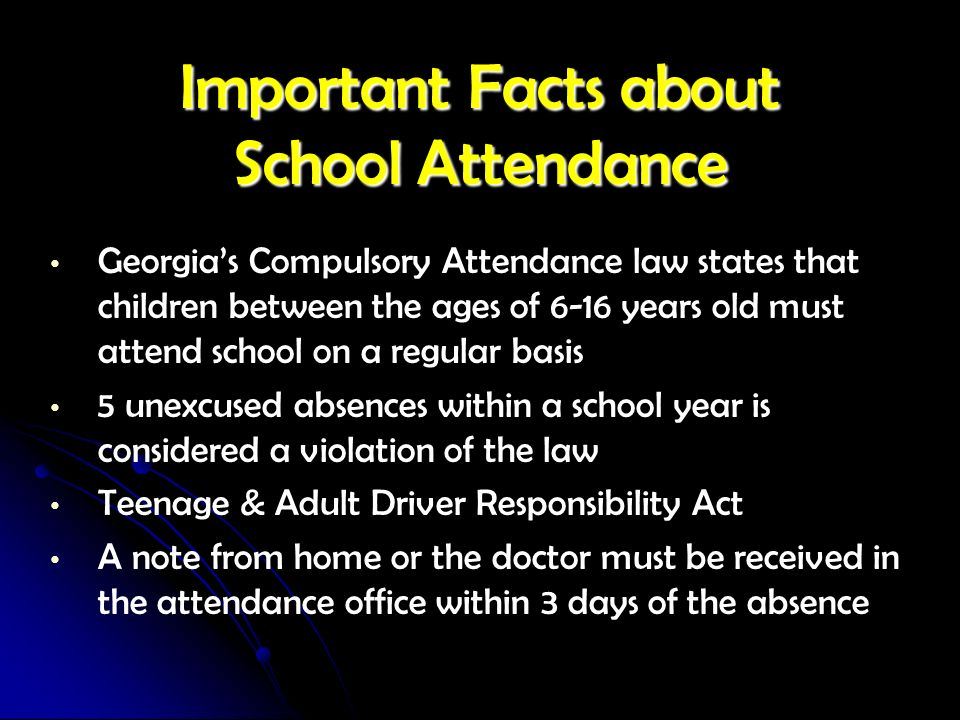 Important Facts about School Attendance