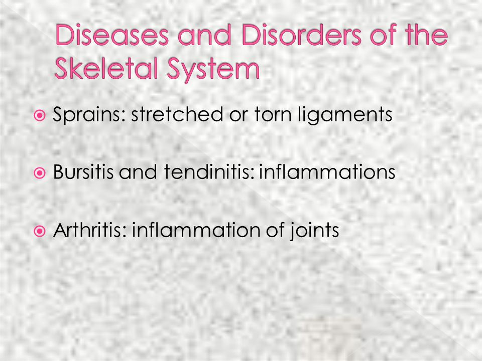 Diseases and Disorders of the Skeletal System