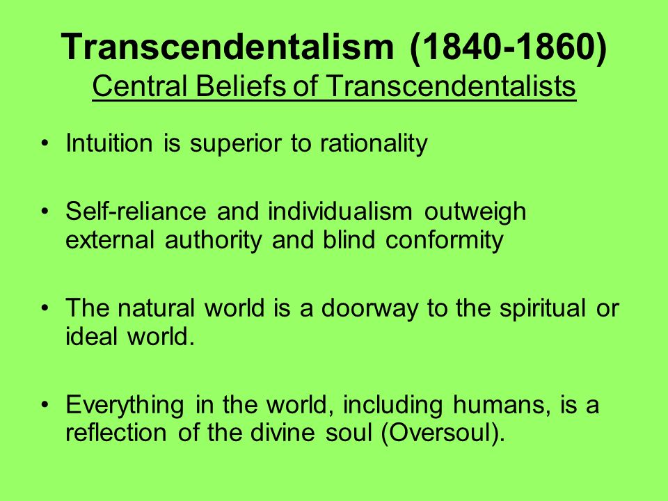 26f. Transcendentalism, An American Philosophy