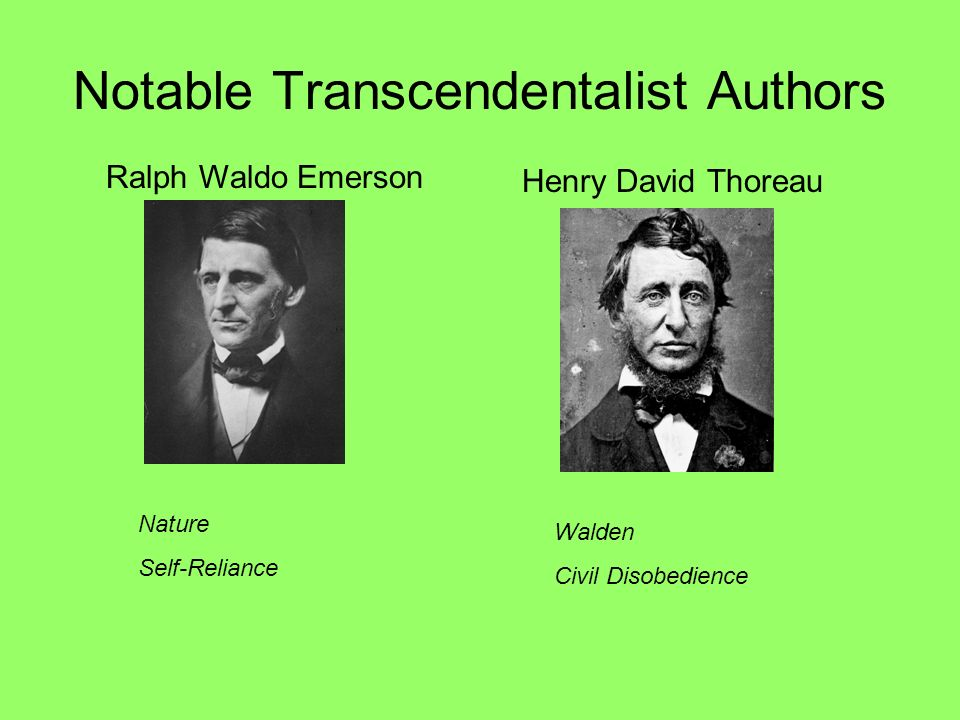Notable Transcendentalist Authors
