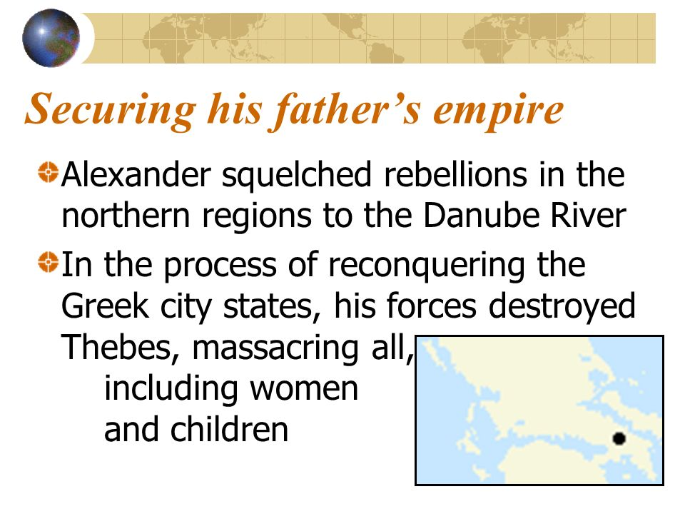 Securing his father's empire