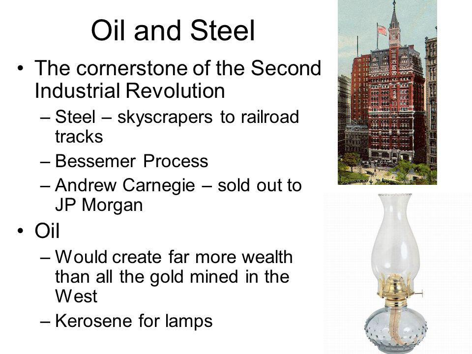 Oil and Steel The cornerstone of the Second Industrial Revolution Oil