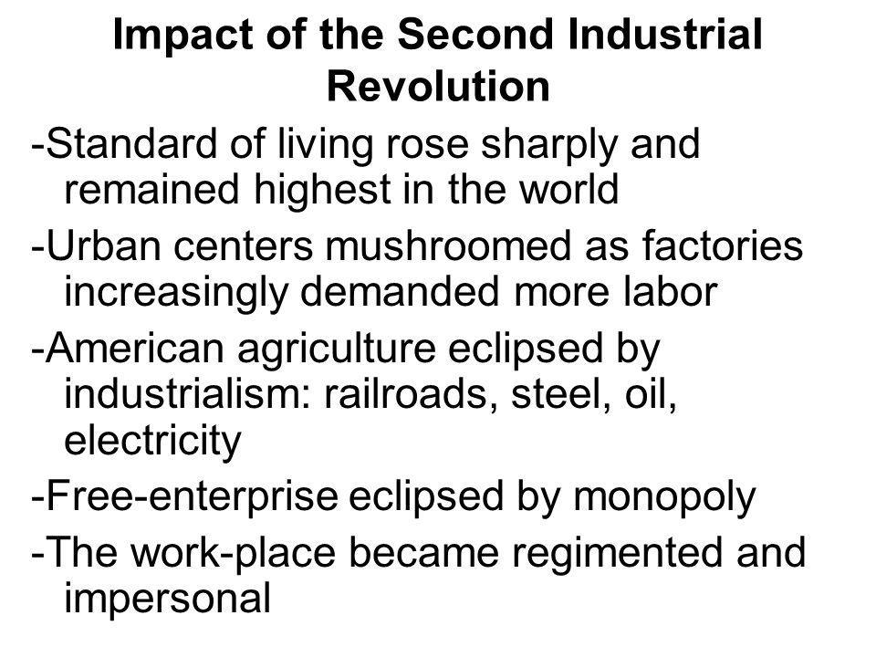 Impact of the Second Industrial Revolution
