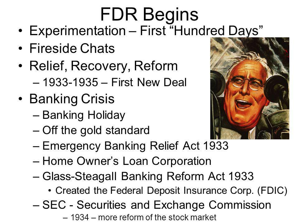 FDR Begins Experimentation – First Hundred Days Fireside Chats