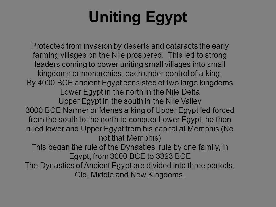 Uniting Egypt