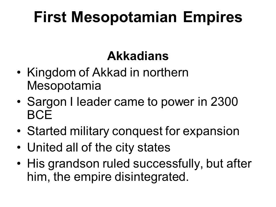 First Mesopotamian Empires