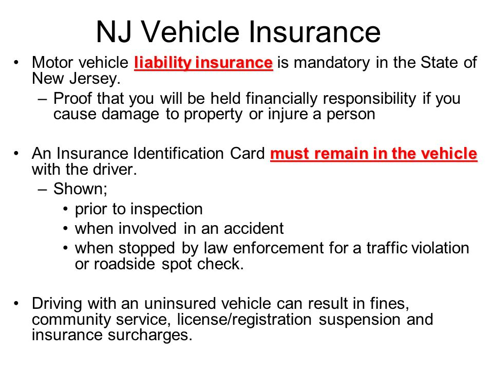 New jersey state car inspection requirements
