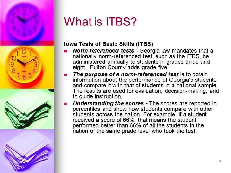 What is ITBS Iowa Tests of Basic Skills (ITBS)