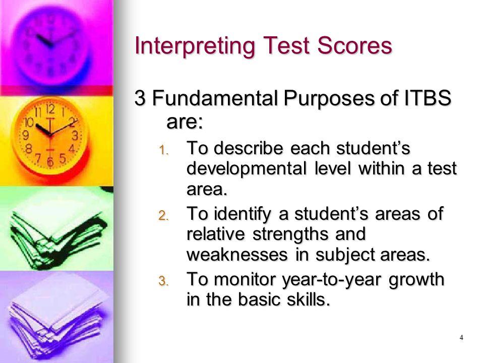 Interpreting Test Scores