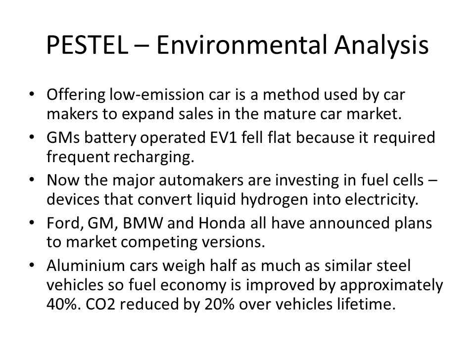 honda environmental analysis Strategic analysis and implementation for toyota motor company strategic analysis and implementation for environmental analysis comes in internal.