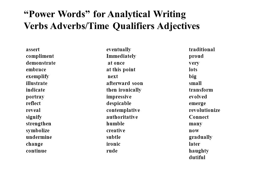 Essay words for very