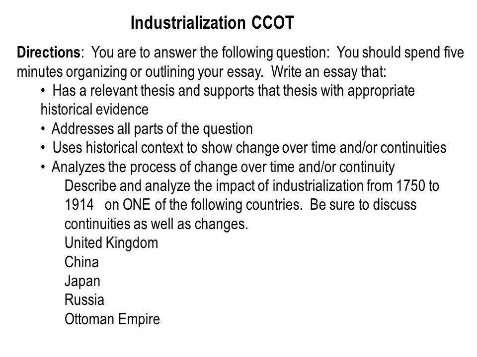 Reflective Essay On High School The Impact Of Industrialization And Urbanization Essay Sample Essay English Example also Sample Essay English Industrialization Impact Essay Thesis For Compare Contrast Essay