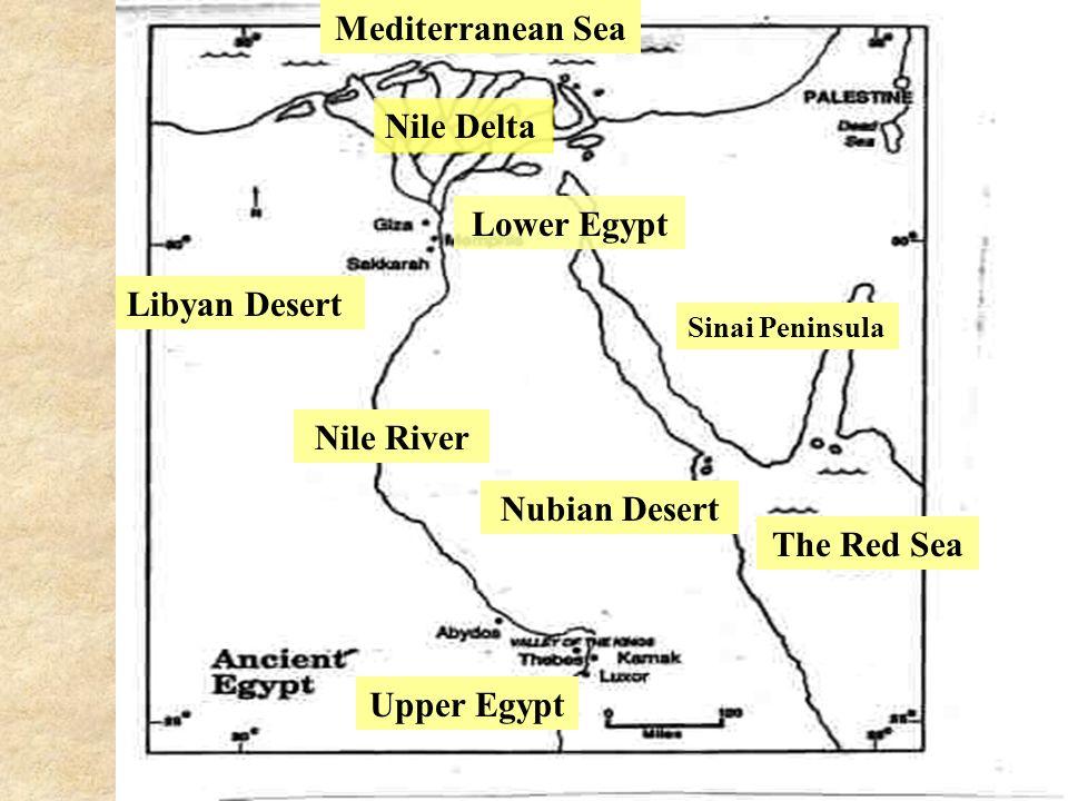 Ancient Egypt Ppt Download - Map of egypt nubian desert