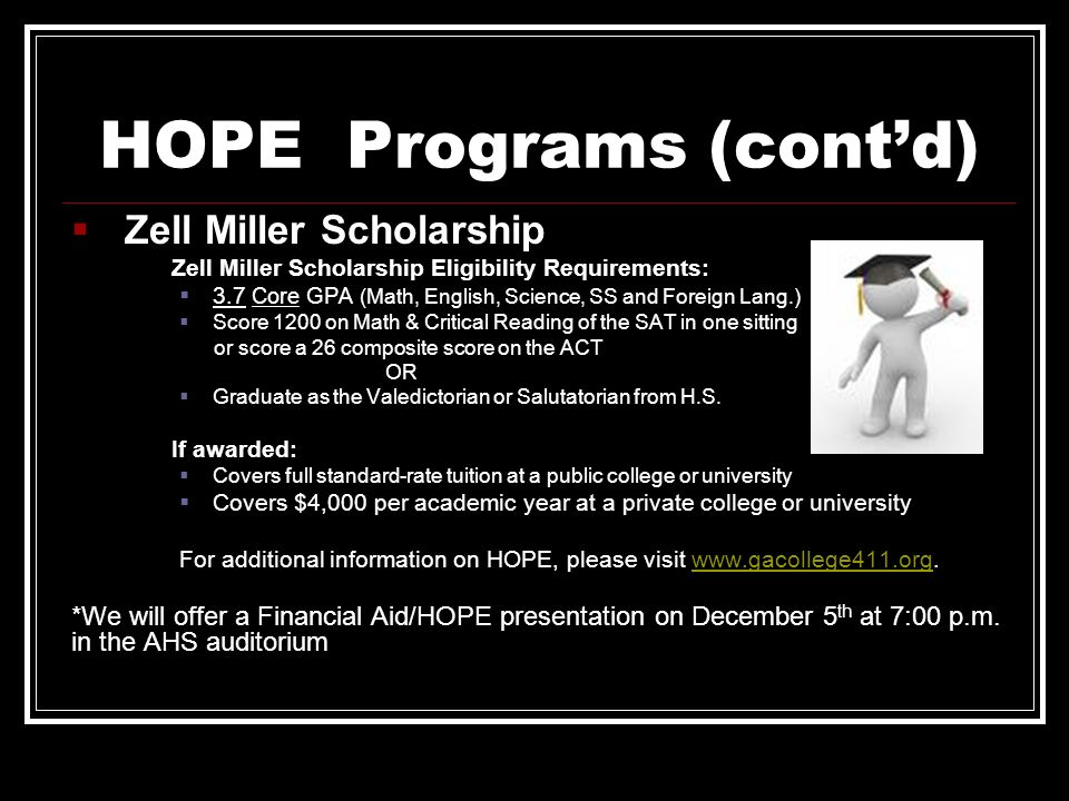 HOPE Programs (cont'd)
