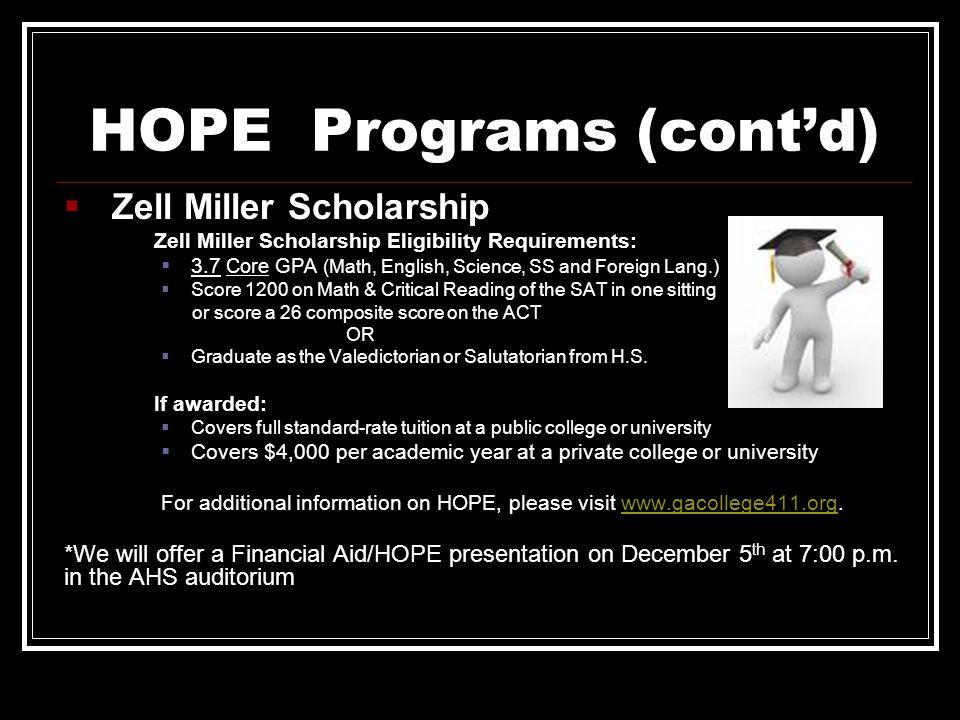 HOPE Programs (cont'd)