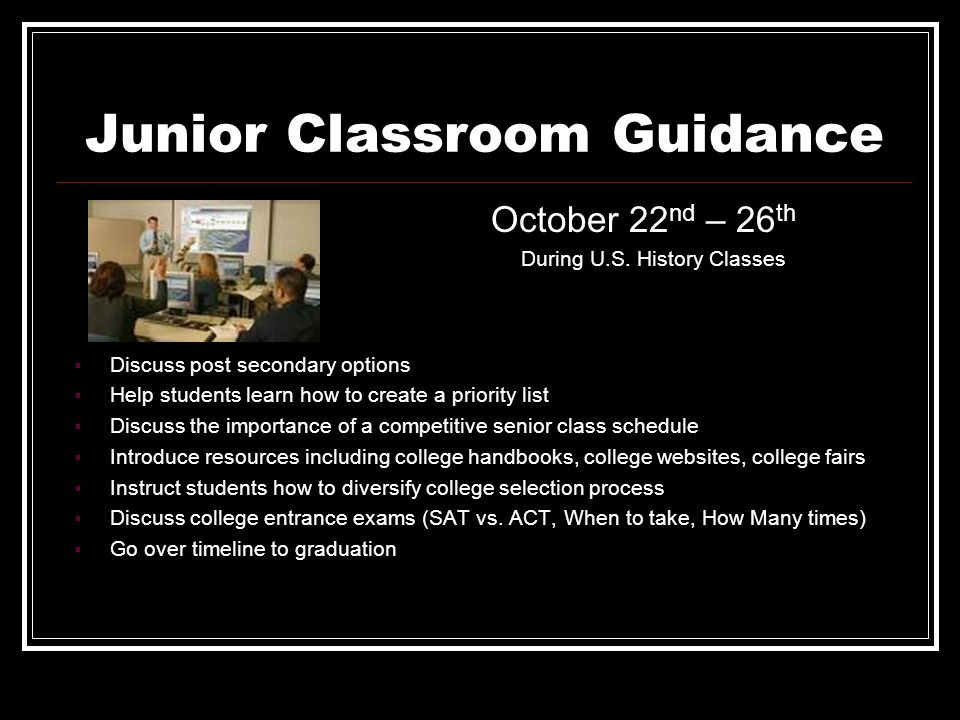 Junior Classroom Guidance