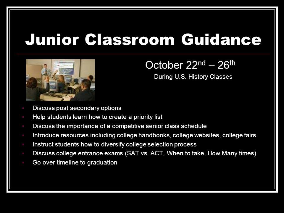 Junior Classroom Guidance