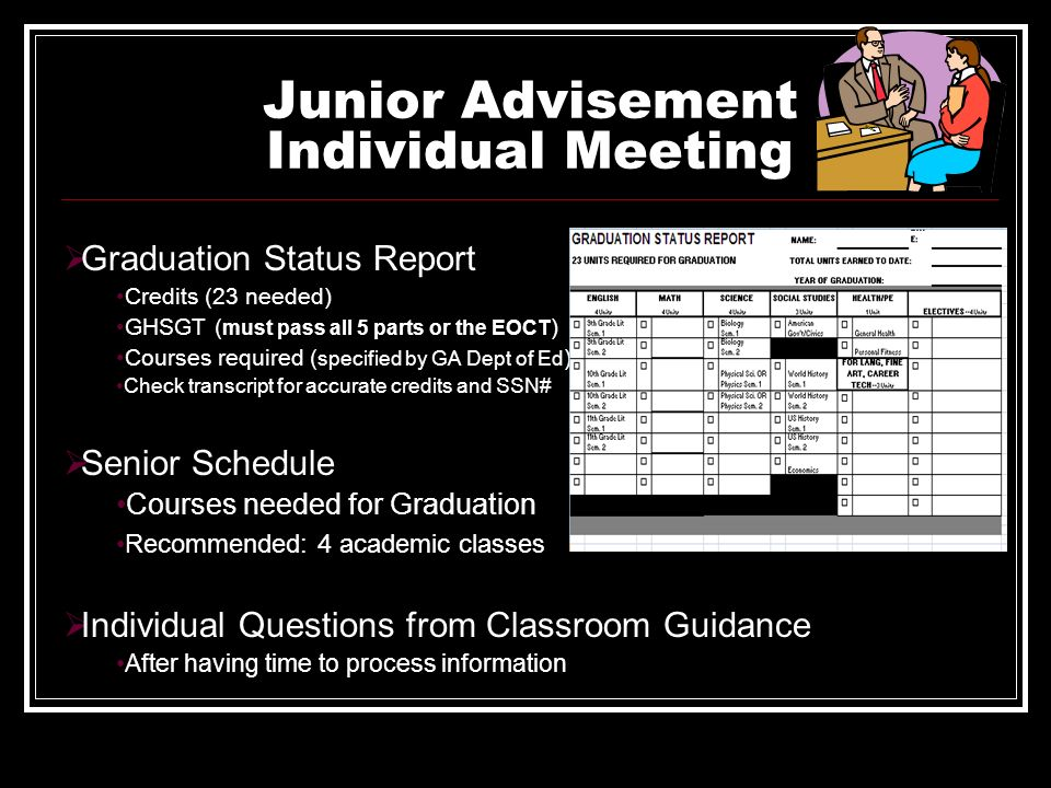 Junior Advisement Individual Meeting