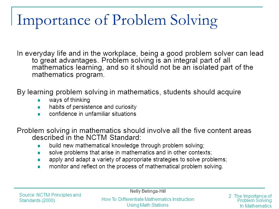 Importance of Problem Solving