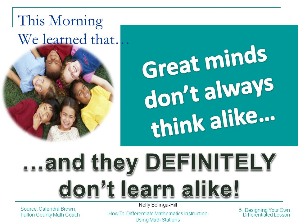This Morning We learned that…