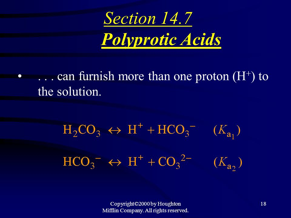 Section 14.7 Polyprotic Acids
