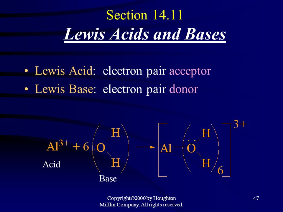 Section 14.11 Lewis Acids and Bases