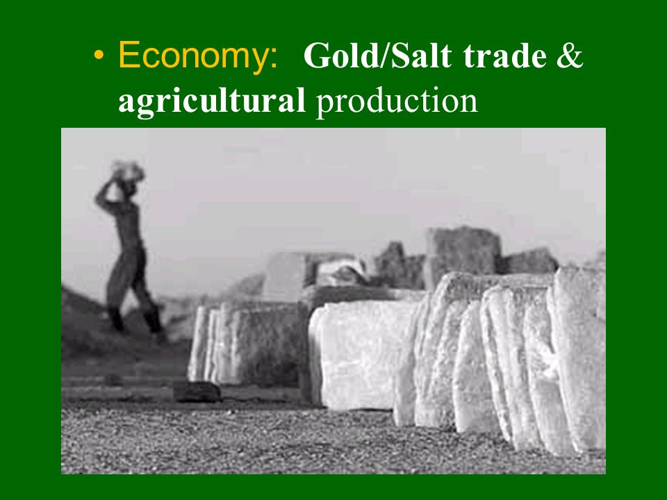 Economy: Gold/Salt trade & agricultural production