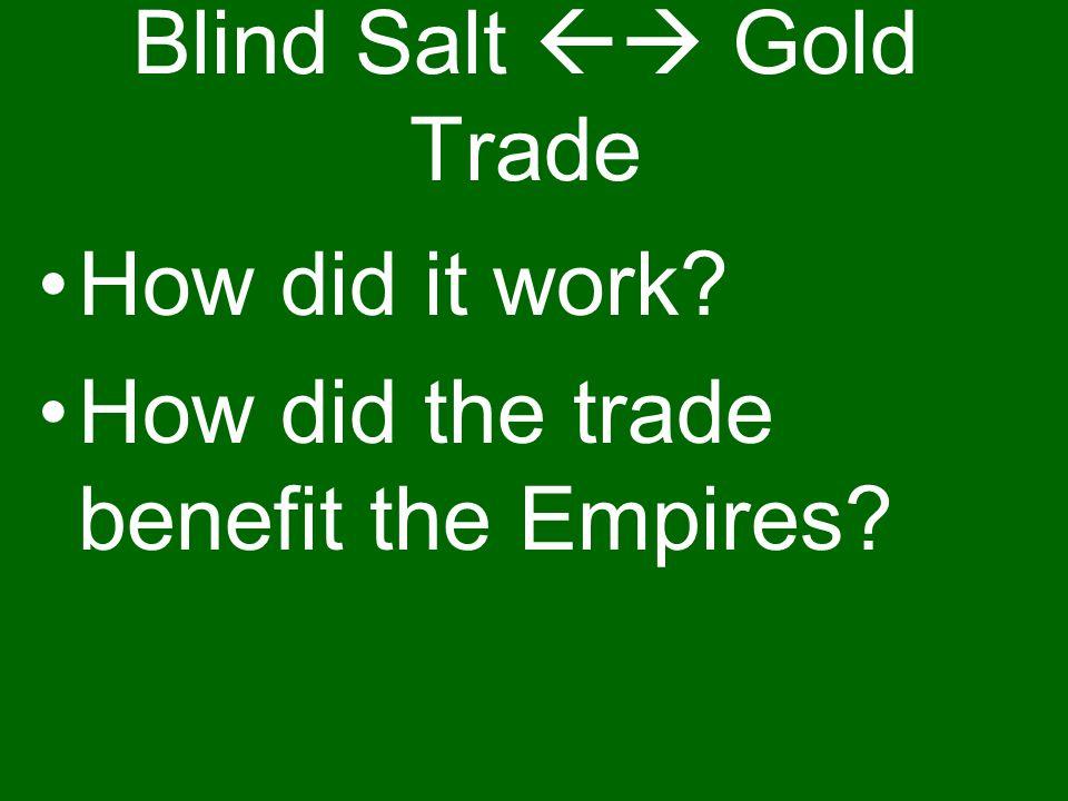 Blind Salt  Gold Trade