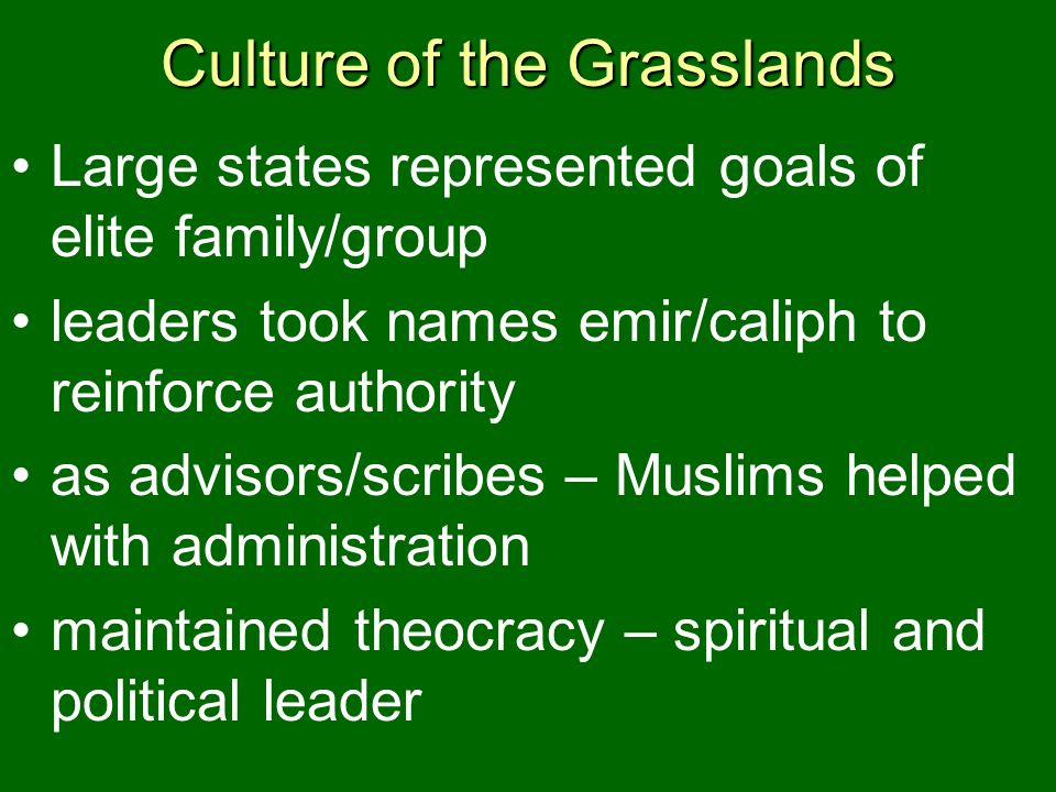 Culture of the Grasslands