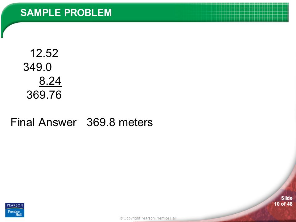 12.52 349.0 8.24 369.76 Final Answer 369.8 meters