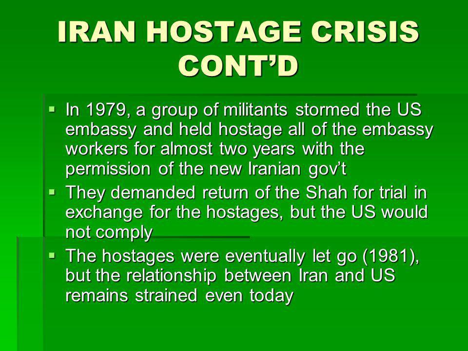 IRAN HOSTAGE CRISIS CONT'D