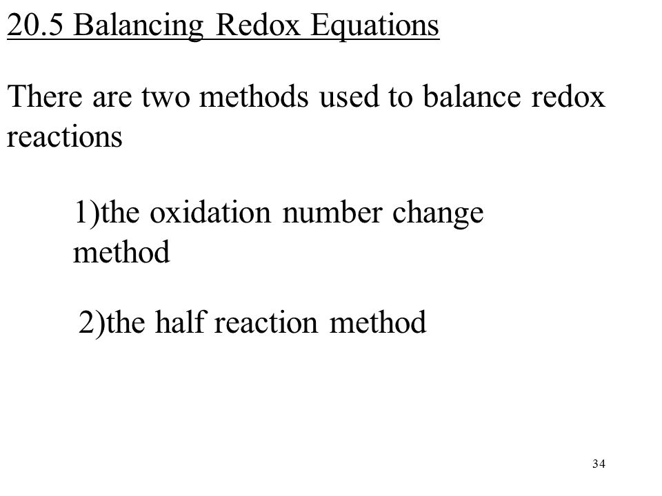 Chapter 20 Oxidation-Reduction Reactions (Redox Reactions) - ppt ...