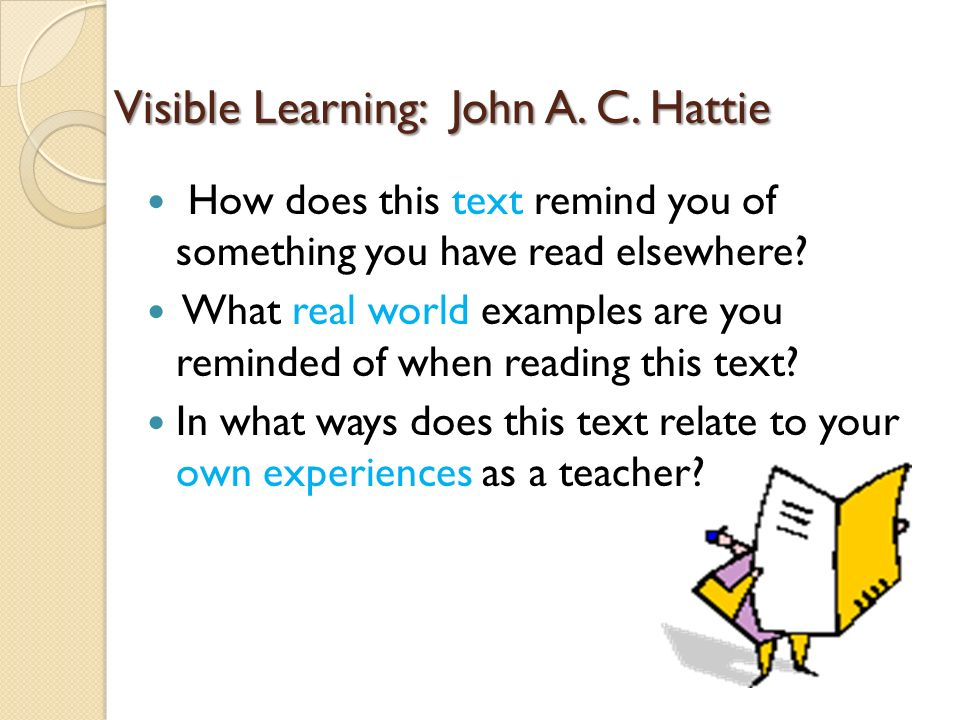 Visible Learning: John A. C. Hattie