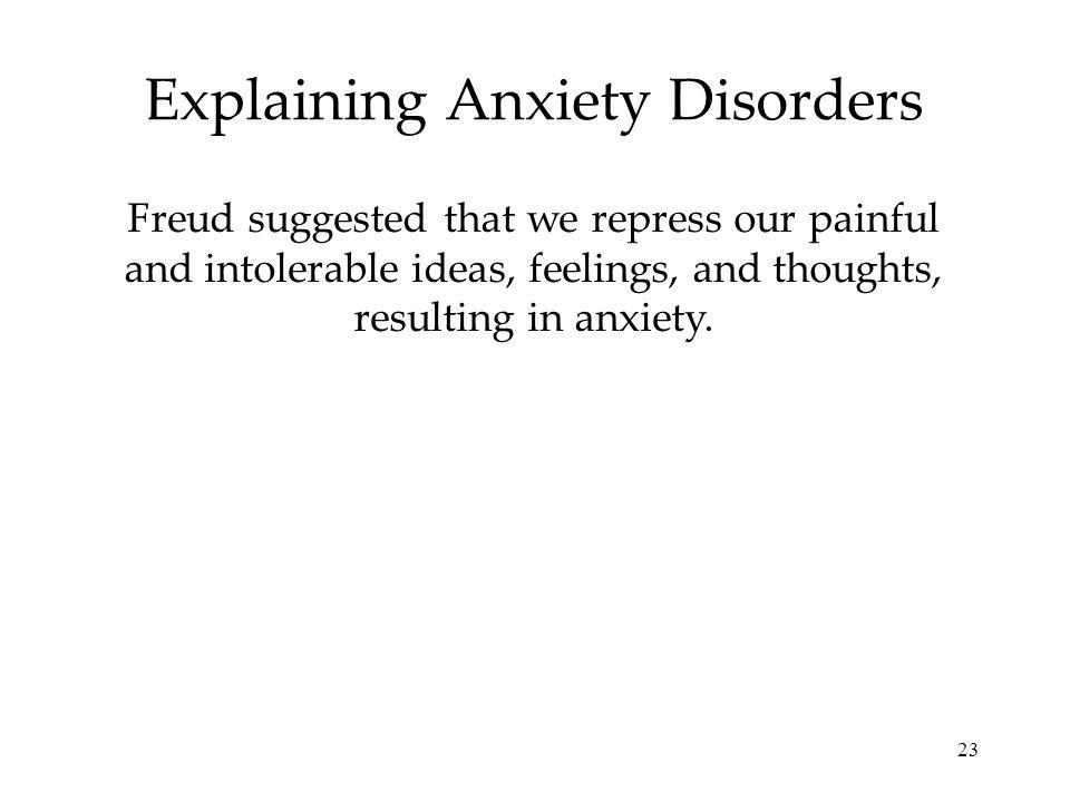 Explaining Anxiety Disorders