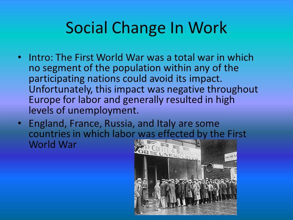 Social Change In Work
