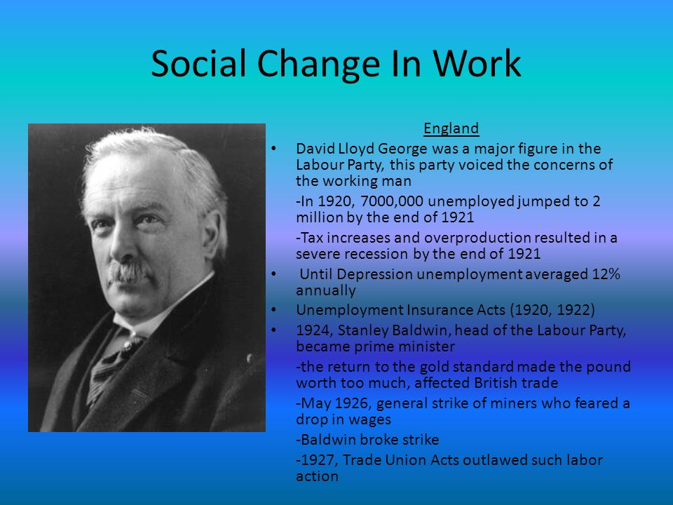 Social Change In Work England