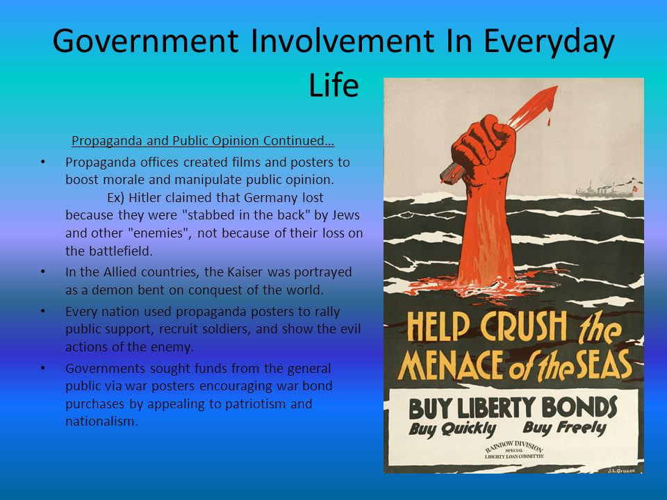 Government Involvement In Everyday Life