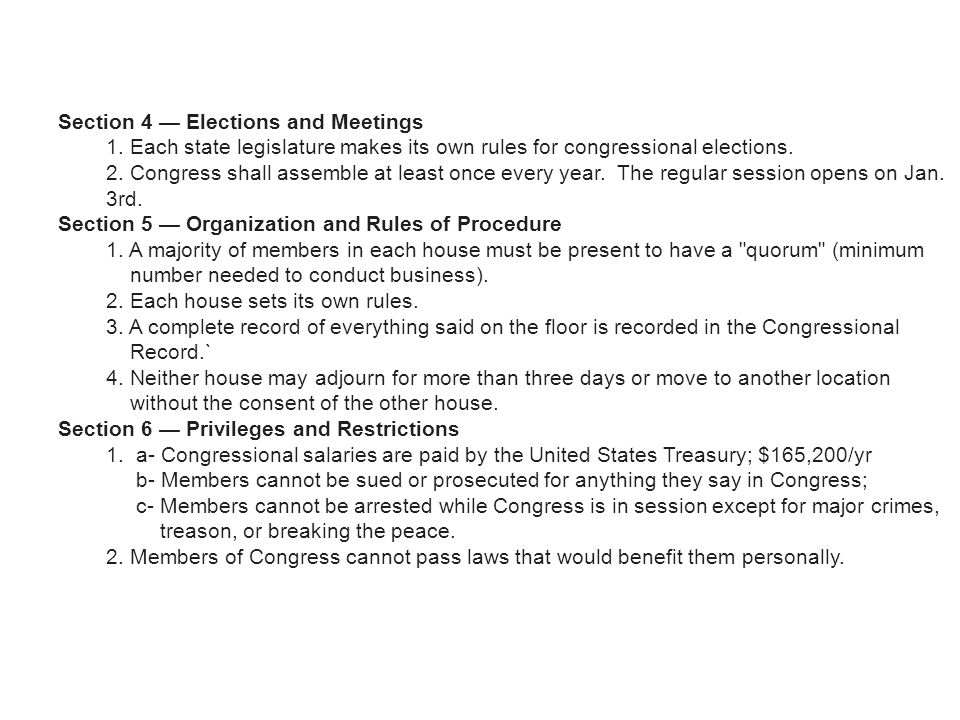 Section 4 — Elections and Meetings