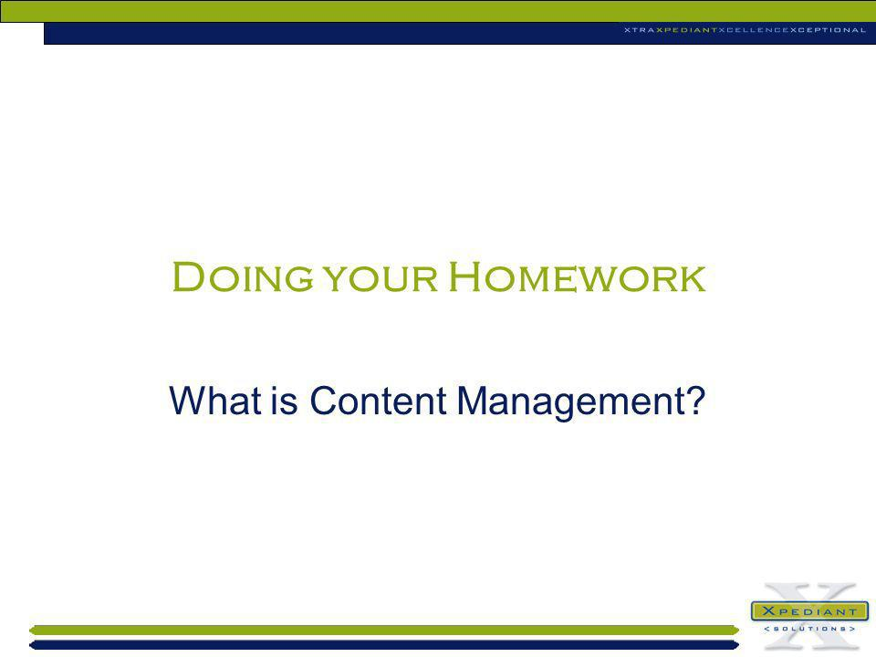 What is Content Management