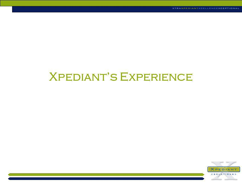Xpediant's Experience
