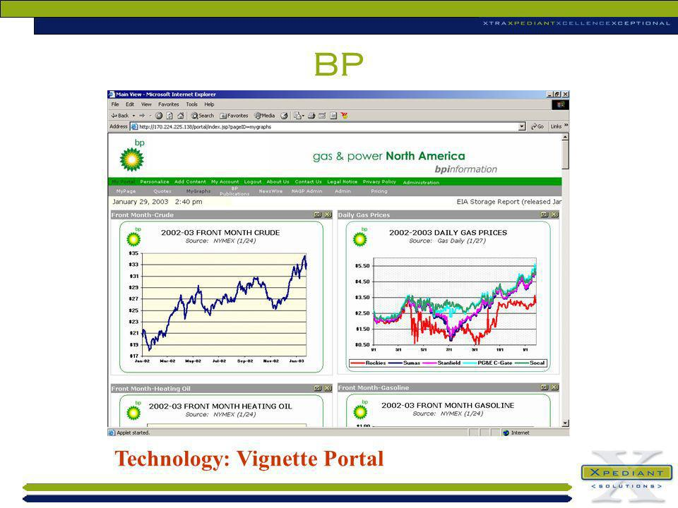 BP Technology: Vignette Portal