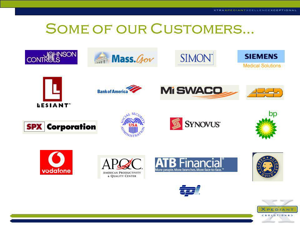 Some of our Customers…