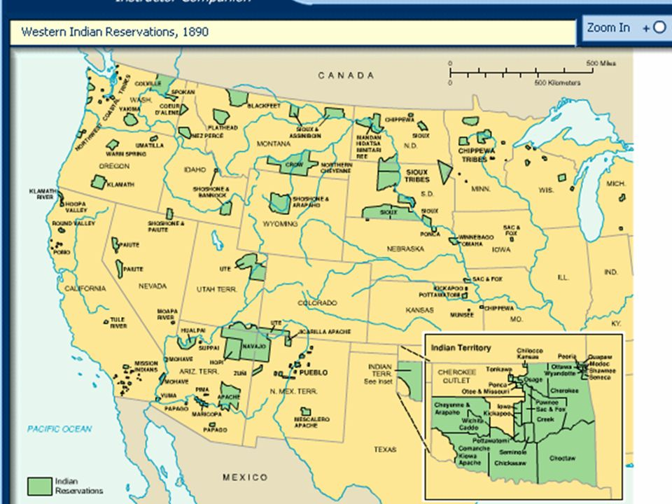 Native American Cultures In Crisis Ppt Video Online Download - Us indian reservations map