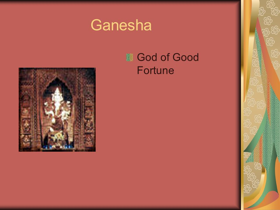 Ganesha God of Good Fortune