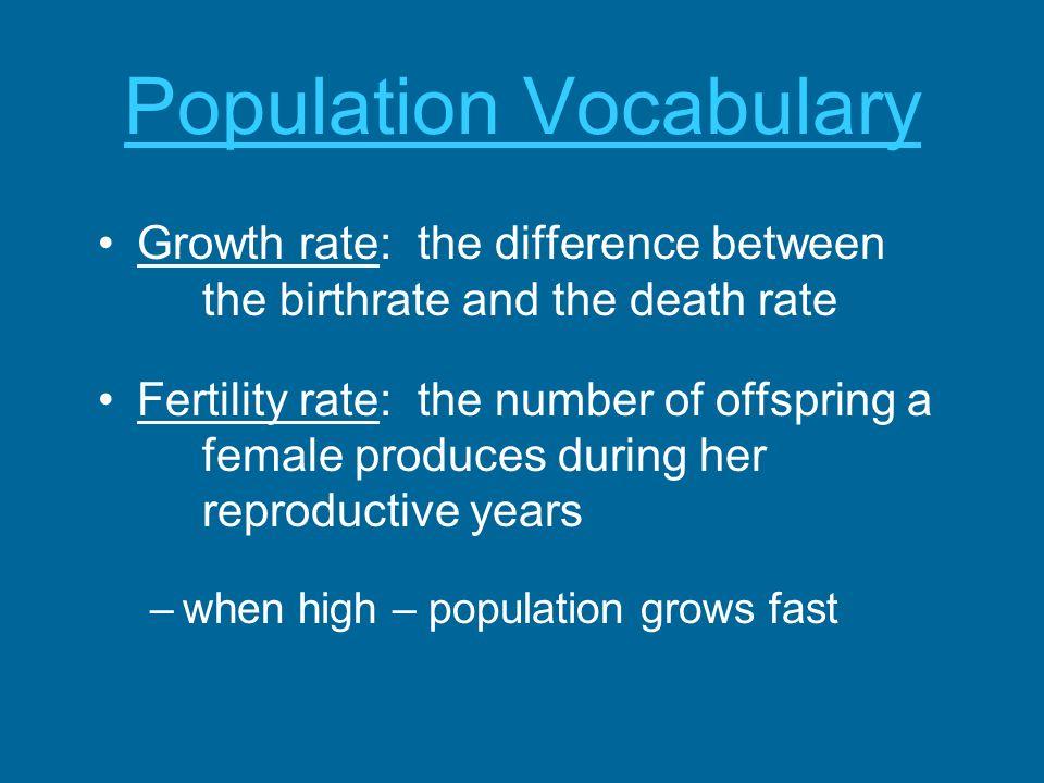 Population Vocabulary